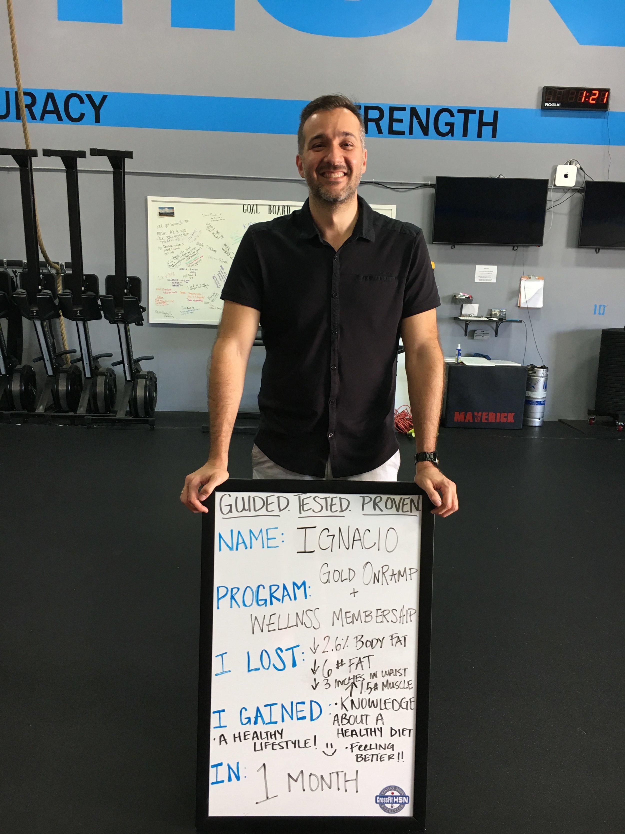 How Ignacio lost 5 lbs in 4 weeks