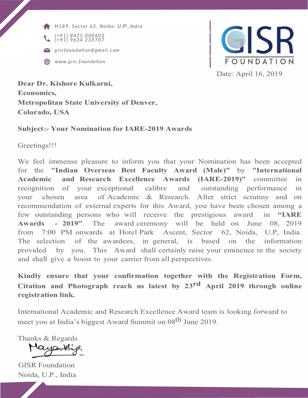 IARE1901105+-+Dr.+Kishore+Kulkarni+award+letter+from+GISR+Foundation.jpg