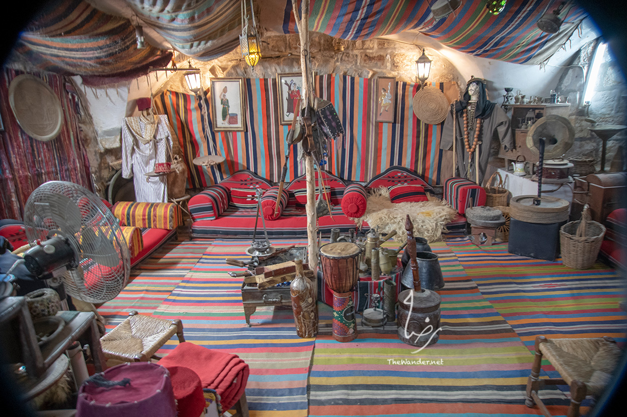 a display of traditional Palestinian life style