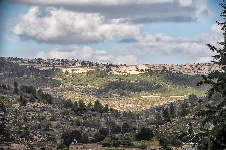 Settlements across Battir Village