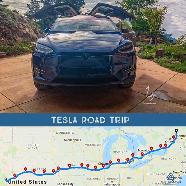 Tesla Road-trip, Boulder, USA to Mont-Tremblant, Canada. 2000miles, can we travel green? . #tesla #teslachargers #teslax #roadtrips #travel #greentravel #ecotraveler #wanderlust #thewander