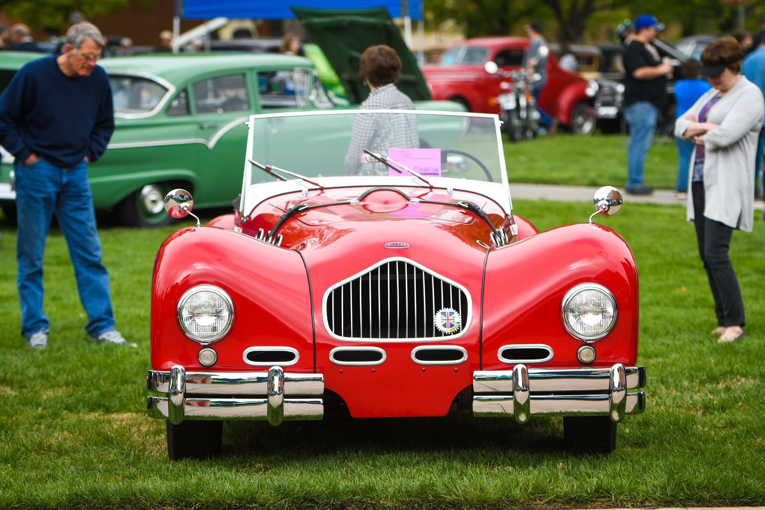 1951 Allard K2 on the show field at the McPherson College car show