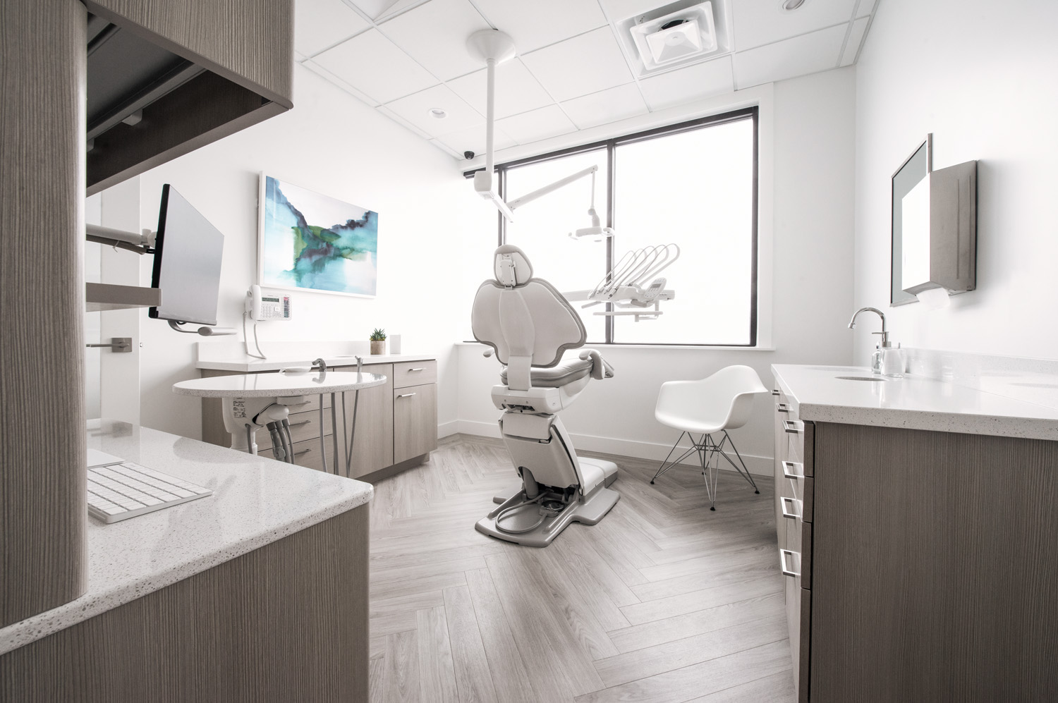 The exam rooms at the Smile Studio are now very different than how they started -