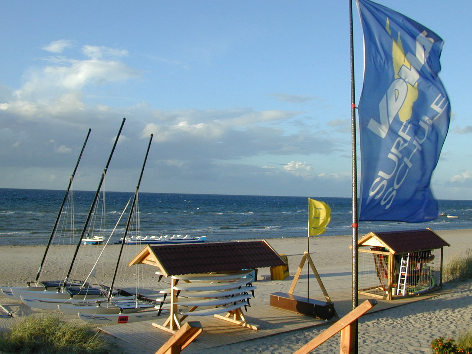 """Our beginnings in Germany in 2001. This image is of """"Nordwind Wassersport"""", our windsurfing and sailing school in Northern Germany. It still operates today."""