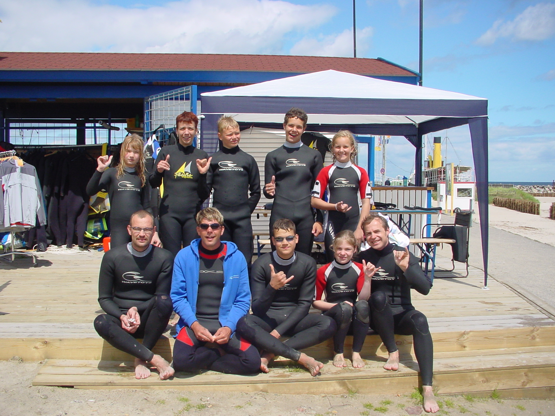 Participants in a windsurfing skills course with Alex, the owner of Maumee River Paddling Co.