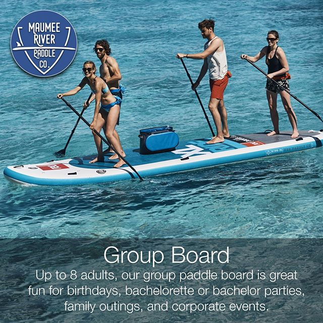 Our group board has been a lot of fun already this paddling season. You can easily fit 6 adults and 4 children on this 17-foot board. . . . . . #maumeepaddle #dogpaddle #puppypaddle #maumeepuppypaddle maumeepaddle.com #toledoohio #ohio #Toledo #paddleboard  #sup  #paddleboarding  #paddle  #standuppaddle  #suplife  #watersports  #kayak  #standuppaddleboard  #standuppaddleboarding #ohiopaddle #ohiokayak #ohiocanoe #ohiobloggers #redpaddlecousa #redpaddleco
