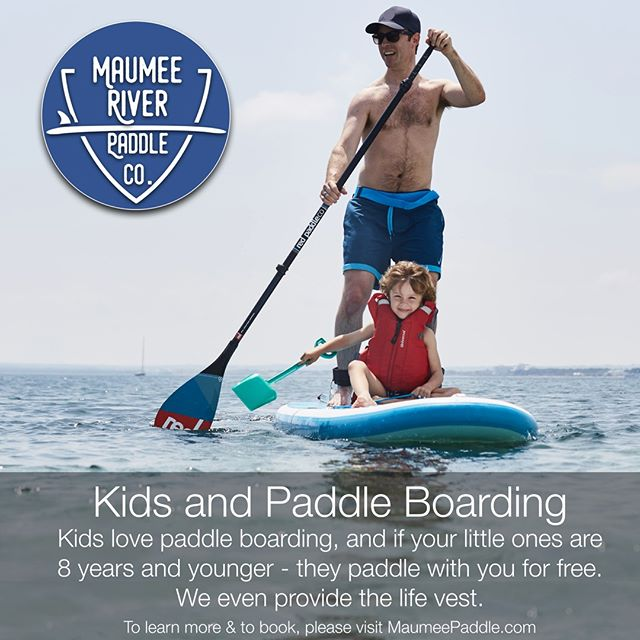 Did you know that kids 8 years and younger paddle for free? Each of our boards will hold at least one kid & one adult. Visit MaumeePaddle.com to learn about our departure points (you choose) along the river. Guide Alex can also recommend the best stretch of river, based on recent weather and flow. . . . . . #maumeepaddle maumeepaddle.com #toledoohio #ohio #Toledo #paddleboard  #sup  #paddleboarding  #paddle  #standuppaddle  #suplife  #watersports  #kayak  #standuppaddleboard  #standuppaddleboarding #ohiopaddle #ohiokayak #ohiocanoe #ohiobloggers #redpaddlecousa #redpaddleco