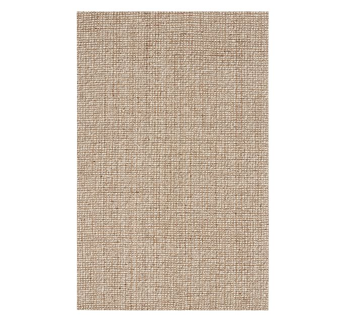 Chunky Natural Wool & Jute Rug