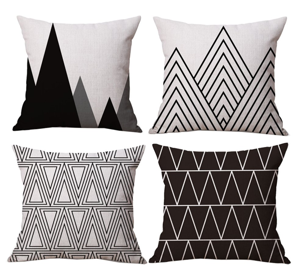 BLUETTEK Modern Geometric Pillows