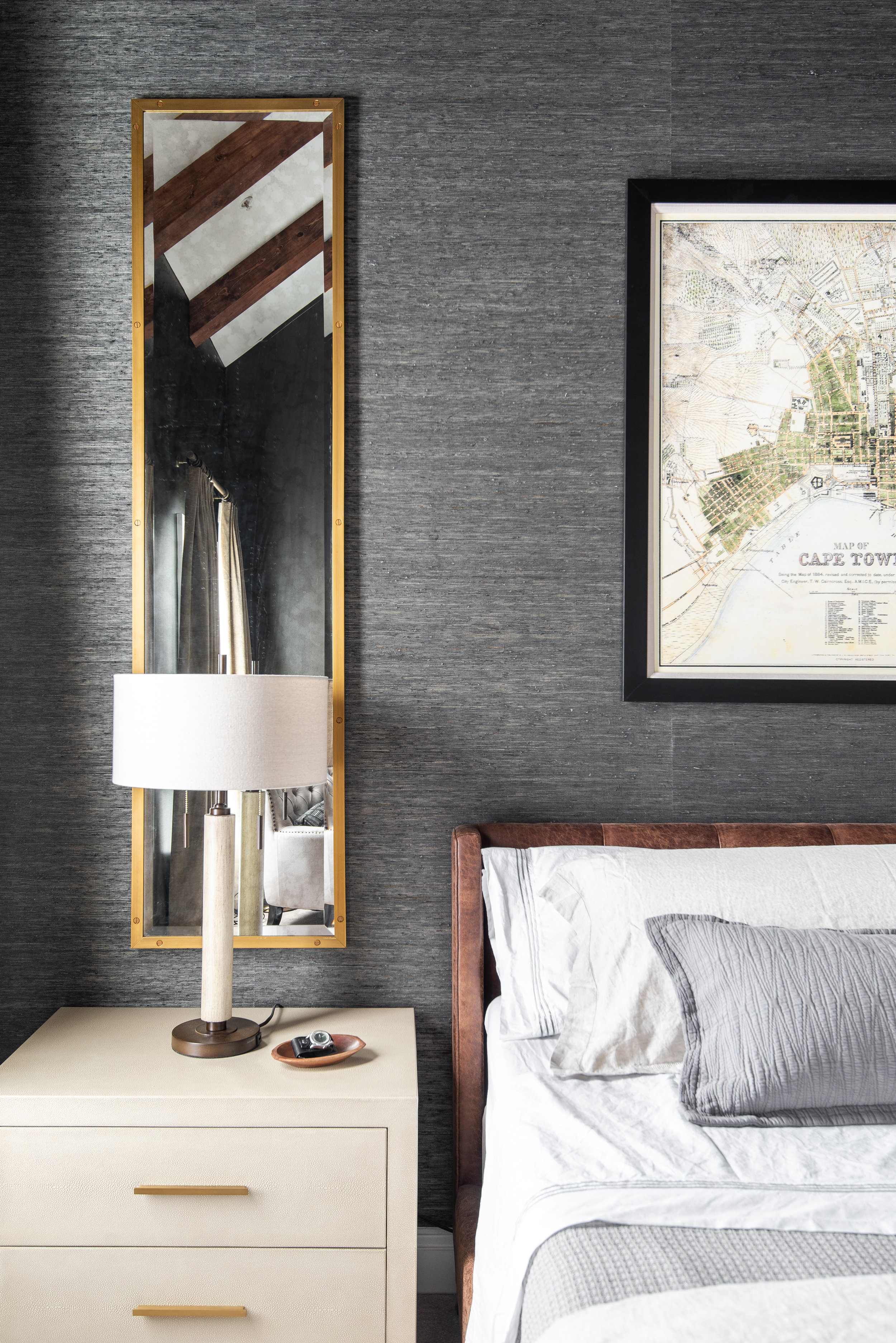 nightstand-shagreen-long-gold-mirror-grasscloth-dark-walls-bedroom-washington-dc.jpg