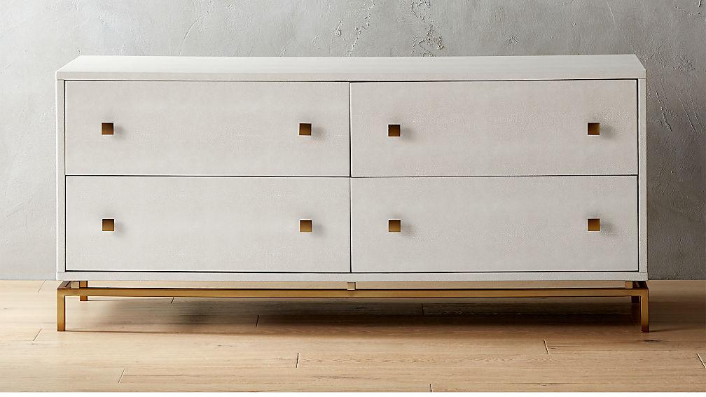 Ivory Shagreen Dresser