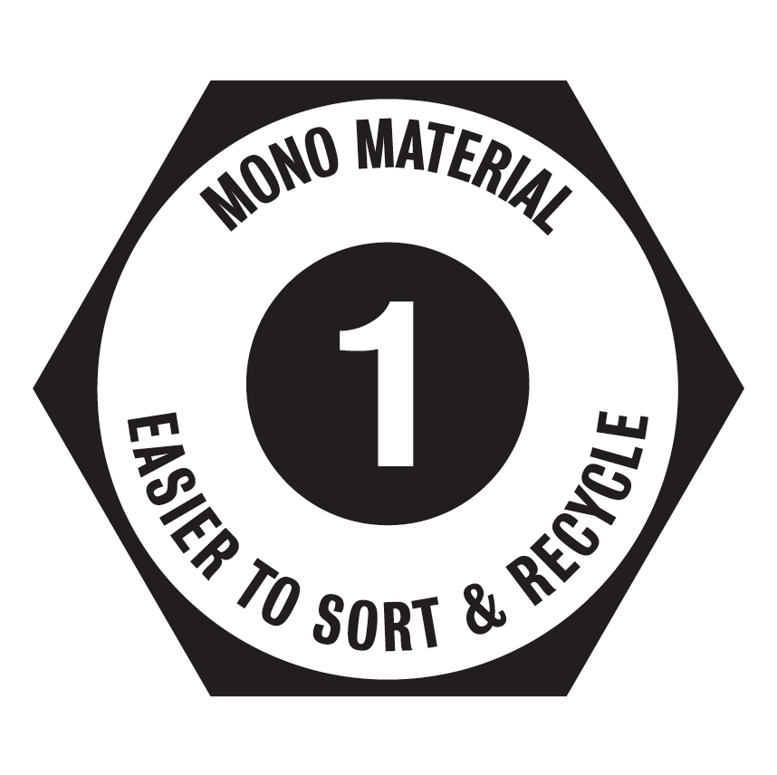 Mono Material - This product has been made using paper and card making it easier to sort and recycle with paper products.The handles are also made from woven paper too.  Please recycle with other paper products.