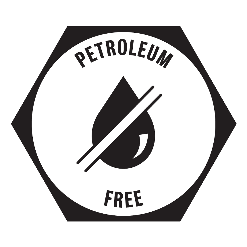 Petroleum Free - This product contains no plastics and is petroleum free.