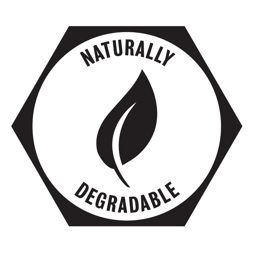 Naturally Degradable - This product is made from paper and will degrade naturally in soil or marine conditions.The inks and glues are water based.
