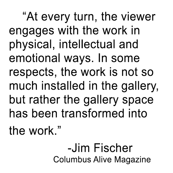 """Fisher, Jim. """"Excavate by Elaine Buss.""""  Alive  [Columbus, OH]   21 June 2018: 26.  http://www.columbusalive.com/entertainment/20180620/arts-preview-excavate-by-elaine-buss"""