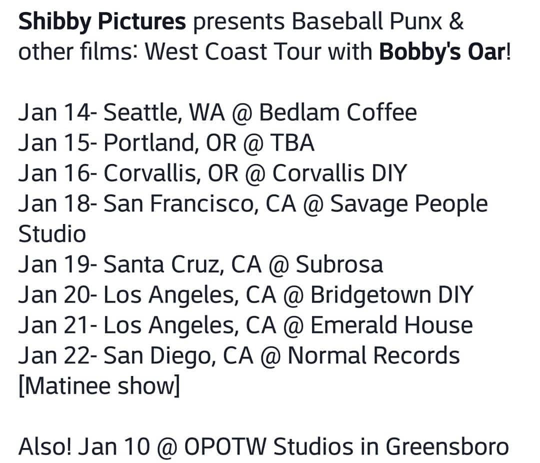 West Coast, come hang w me and @bobbys_oar??
