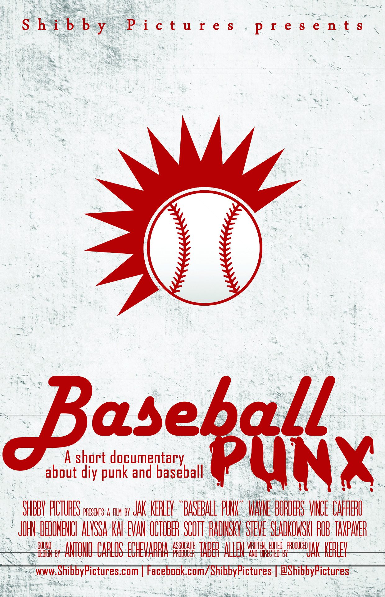 First look at the poster for Baseball Punx. Coming soon. Featuring your favorite bands.
