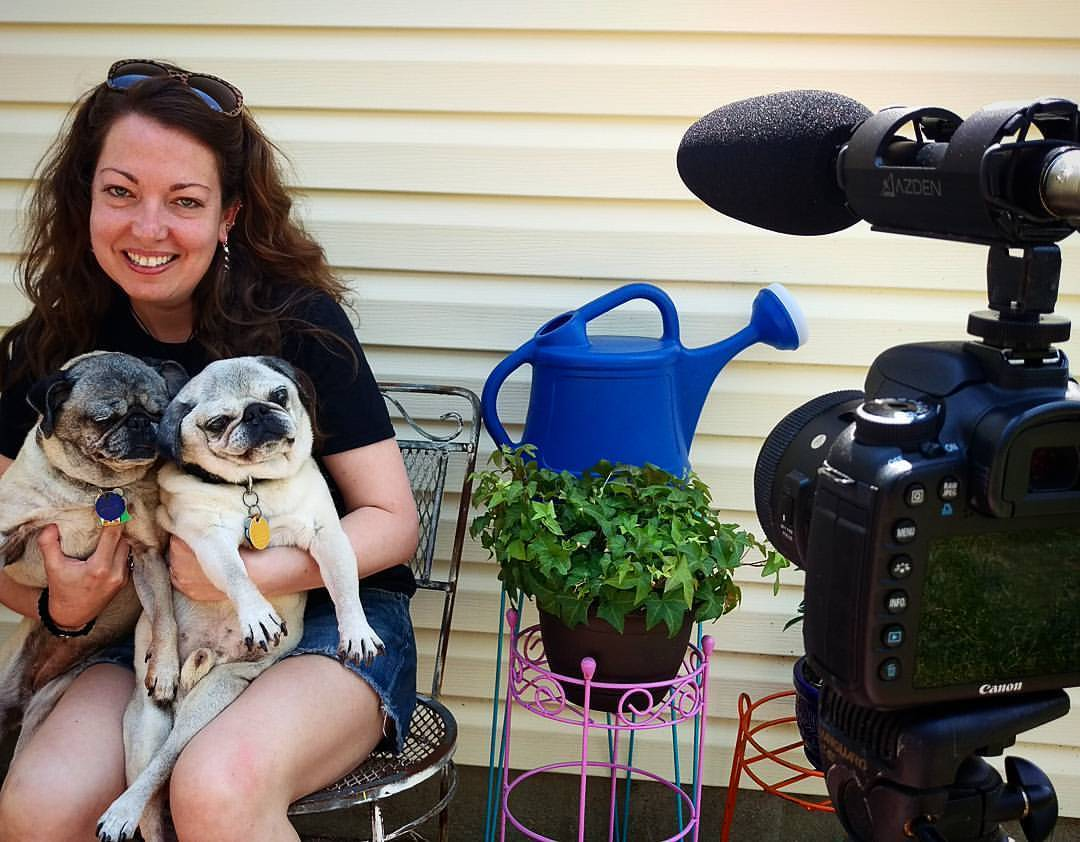 The #BaseballPunx documentary continues to grow… today I filmed an interview with Denise from Fistolo Records, and the pugs whenever they felt like yelping. #mbbadideabears (at Southeast Raleigh, Raleigh, North Carolina)