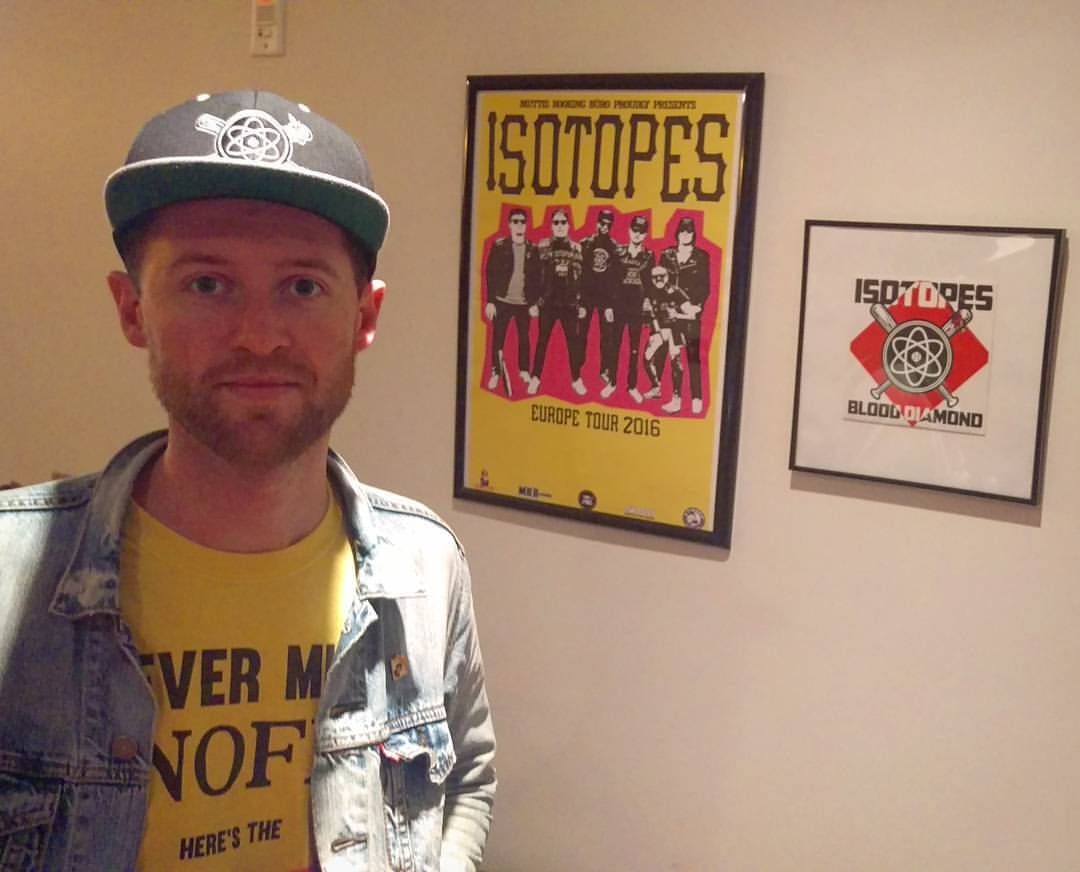 """Thanks for Evan from The Isotopes for letting me interview him for #BaseballPunx. The Isotopes is a sick Ramones-core band with wonderful baseball themed songs such as """"Magic Loogie"""" and """"Total Juicehead."""" (at Vancouver B.C)"""