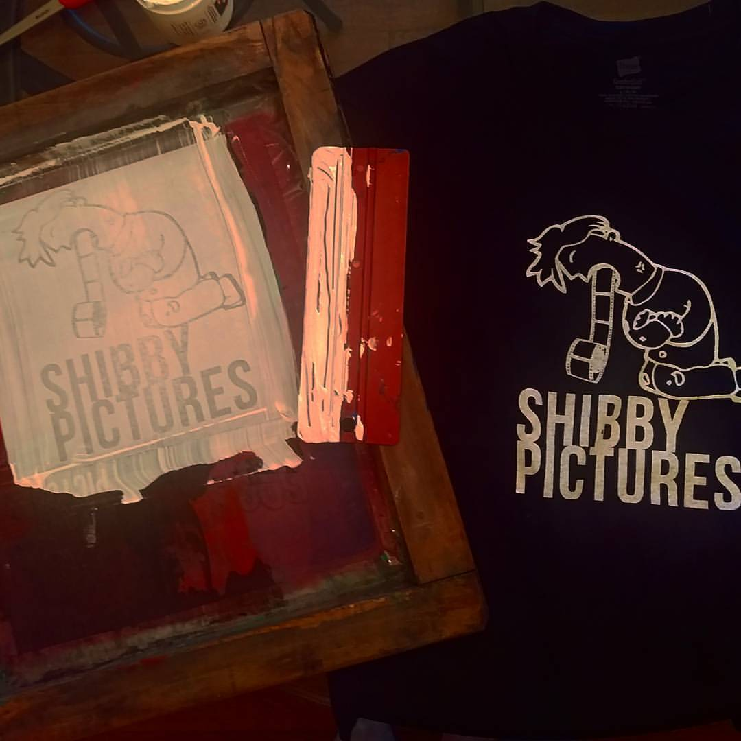 Whipping up some Shibby Pictures shirts and patches tonight. Gonna have black shirts for the first time ever, by popular demand. My friend Joe Dirt reminded me that it's not about what I want, but the consumer! Lmk if you want one (or a baseball)!