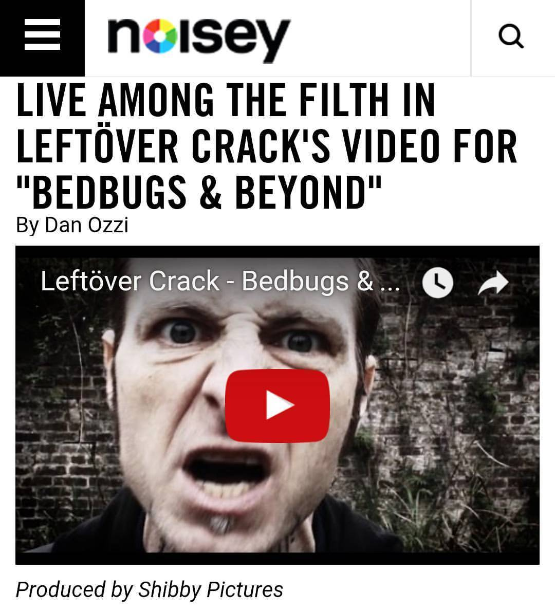 Yooo Noisey just premiered my new music video I made with Leftover Crack and Days N Daze. It was one of my favorite video shoots I've ever done. A huge thanks to Sturgeon for the amazing opportunity to work with two of my favorite bands of all time!