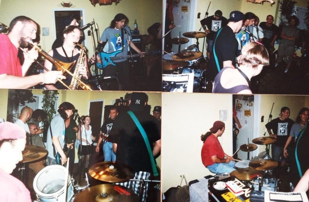 liamtoms :     Less Than Jake playing a house show in 1995. Photo credit @SteveWithGoats