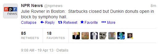 Gonna take a lot more than a terrorist to close Dunkin Donuts.