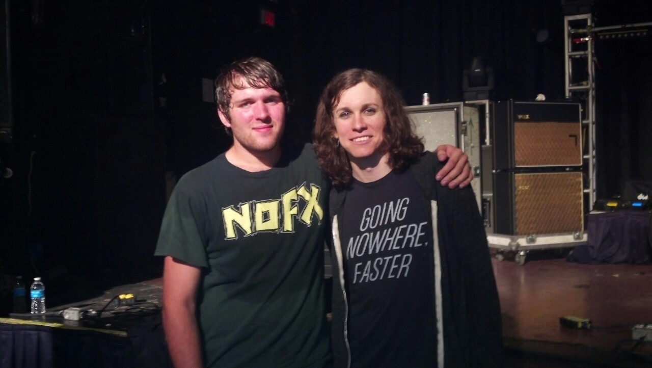 Just met Laura Jane Grace, she was wicked sweet.    Against Me! fucking killed it.
