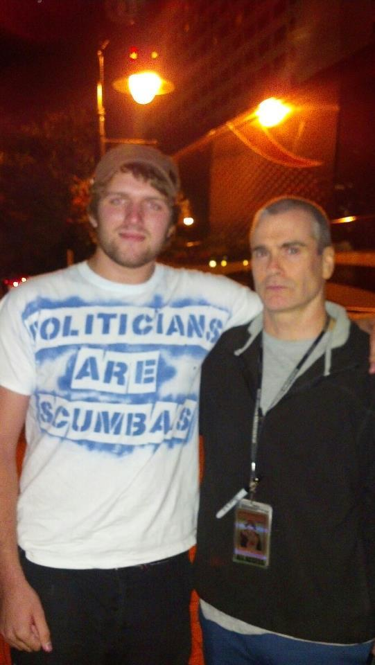 Me being tight with Henry Rollins.