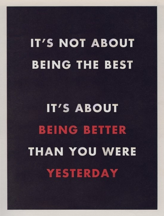 talkingandsleepless :      adesignersfinds :     Be Better than Yesterday    http://bit.ly/PQyU9R      New mantra…