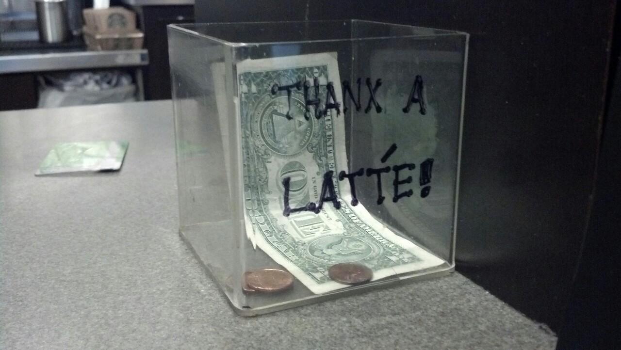 Starbucks tip jar hahahah
