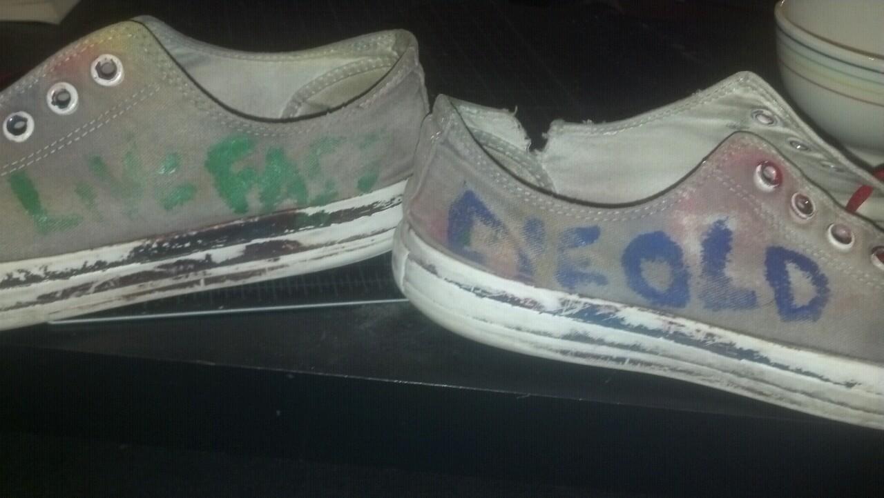 My Frank Turner shoes. Live fast, die old.