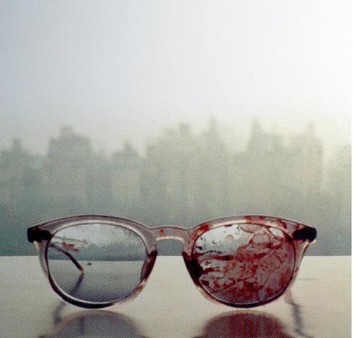 The glasses John Lennon wore when he got shot, 31 years ago today.