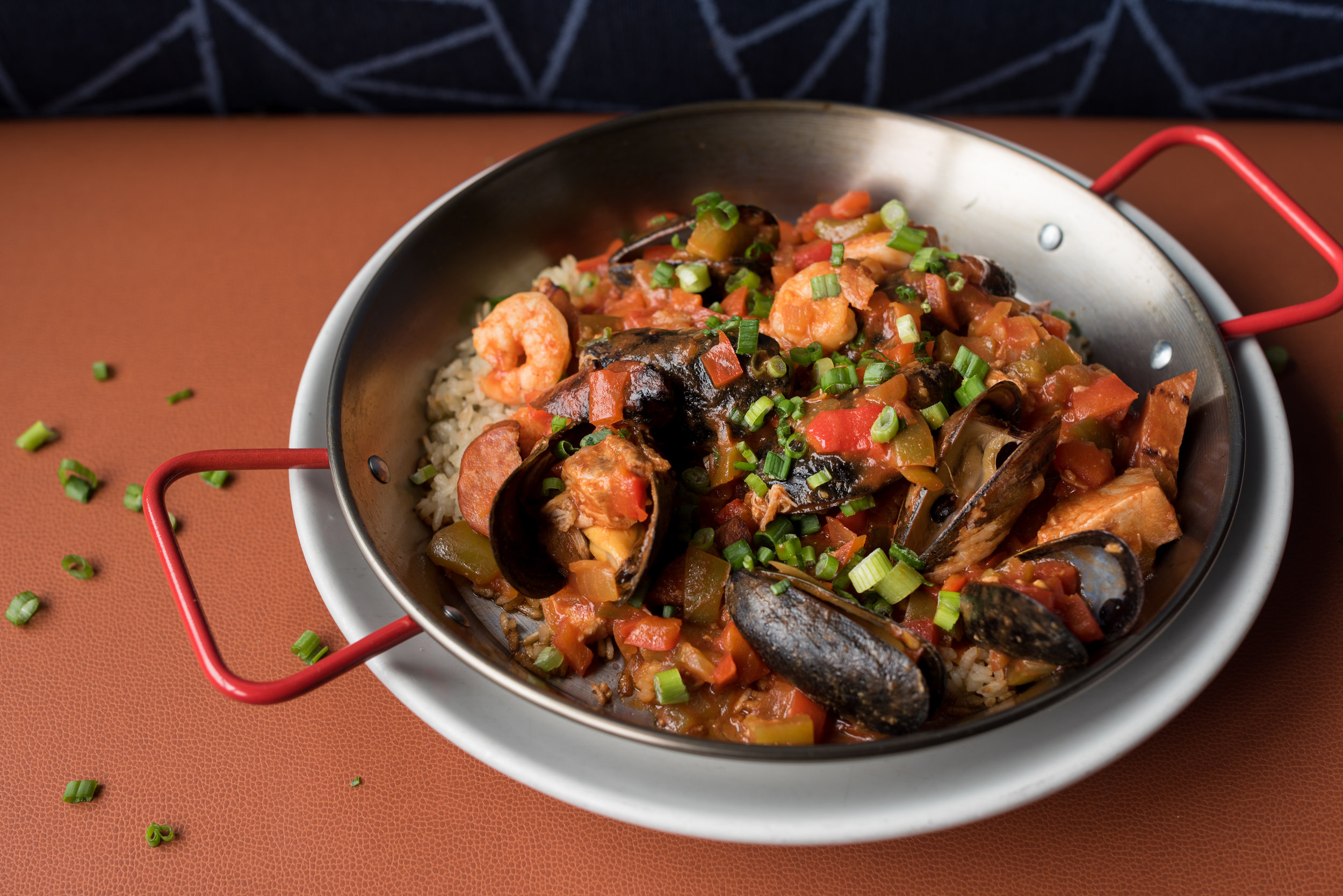 Paella, a colorful mix of locally sourced brilliance.