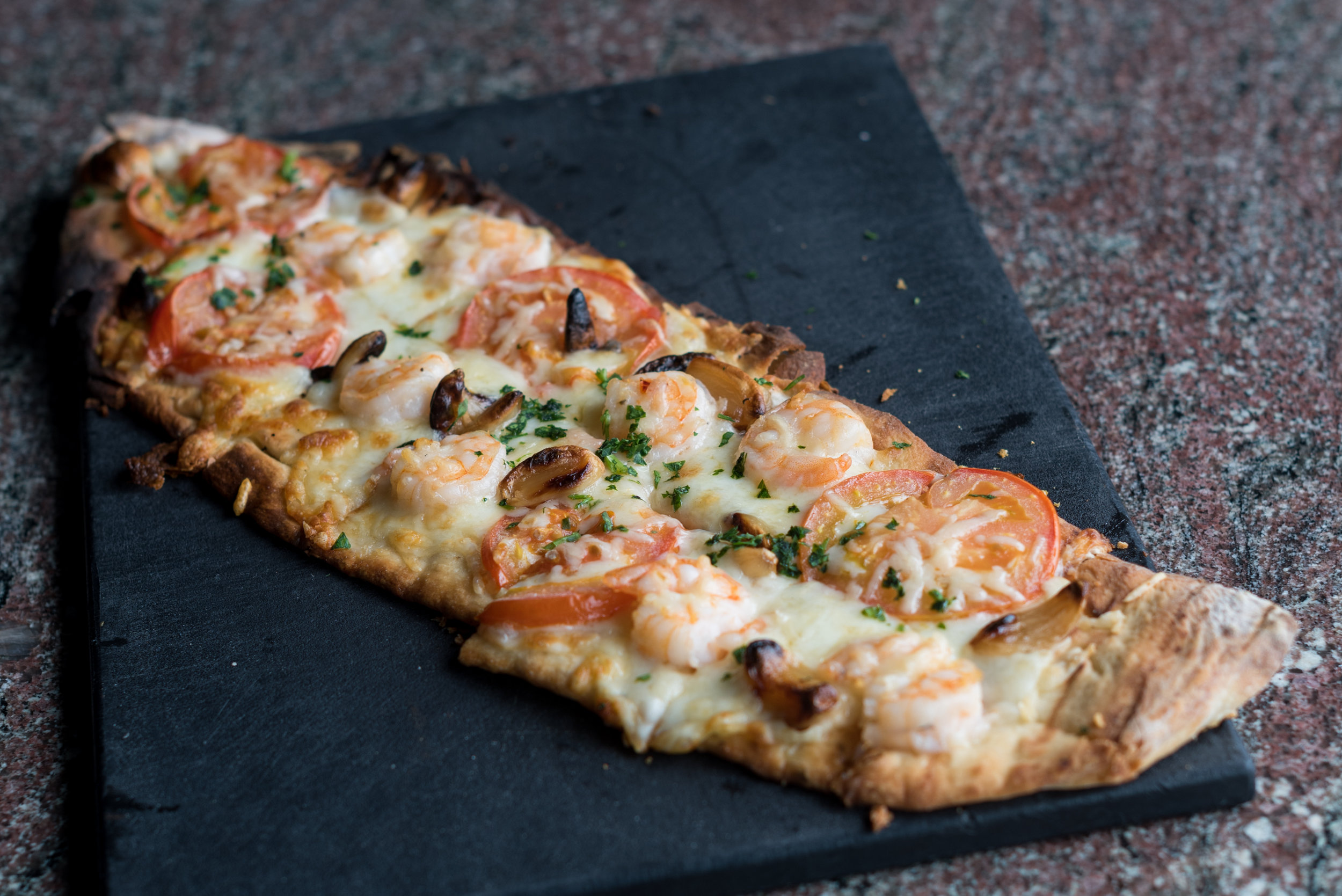 Flatbreads are a staple cuisine at Liv.