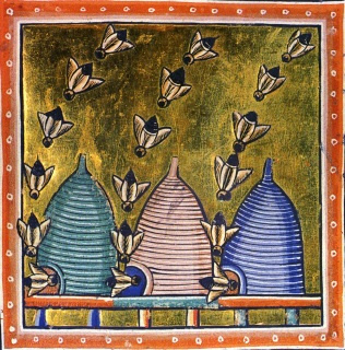 medieval bees. source unknown.