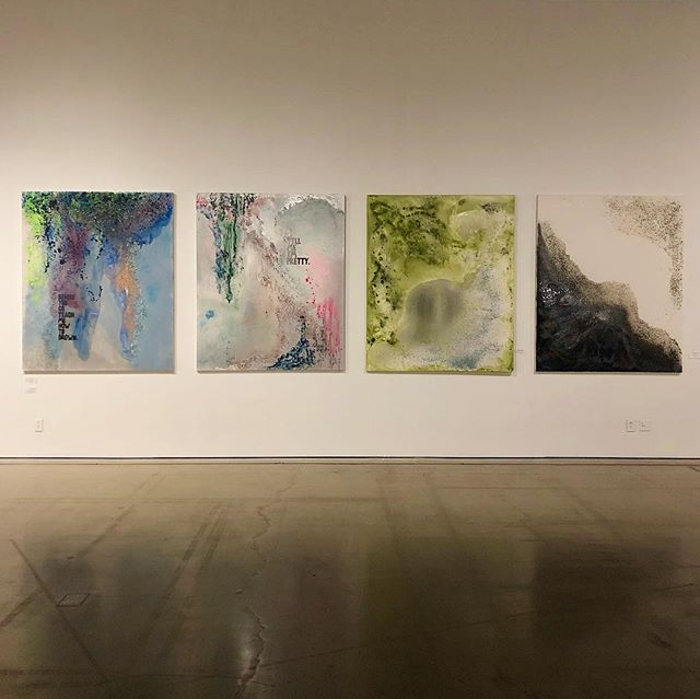 sometimes we're moving so fast we forget to appreciate certain moments. this is my first museum show of my abstract works at the moca cleveland. i want to say thank you and congratulations to @steadyfloh for bringing some beautiful artist together for a beautiful show.