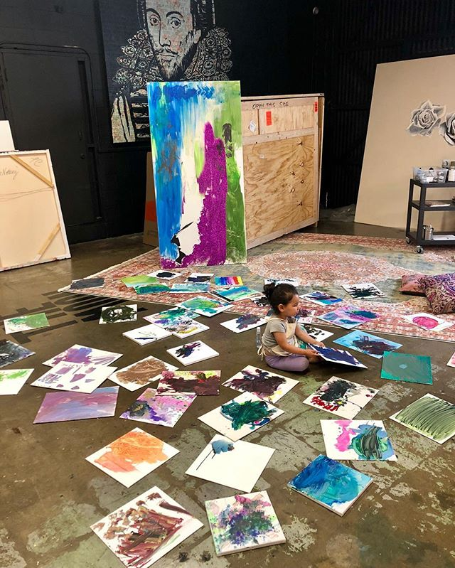2019 paintings by harlow. 2 years old.
