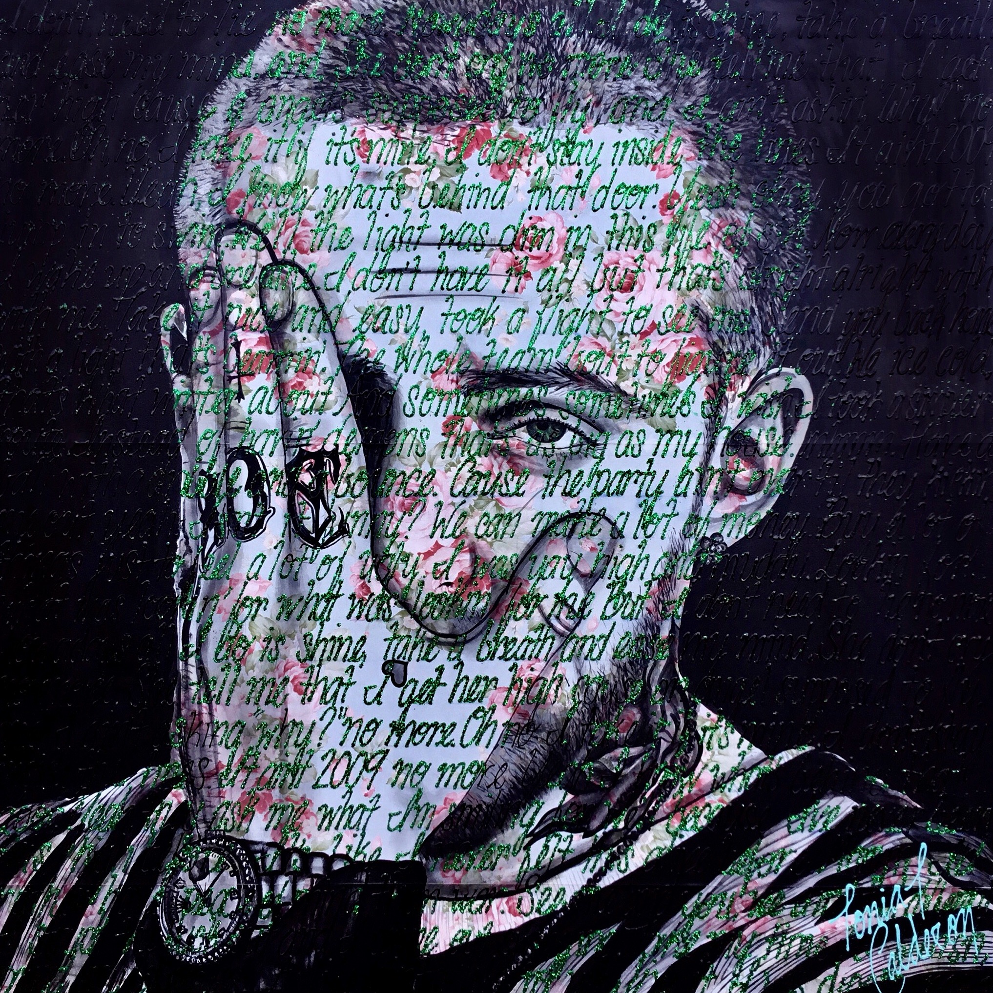 Mac Miller 48 by 48 painting