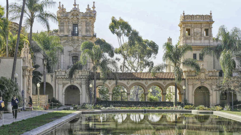 Balboa park - Balboa Park is a 1,200-acre urban cultural park. In addition to open space areas, natural vegetation zones, green belts, gardens, and walking paths, it contains museums, several theaters, and the world-famous San Diego Zoo.