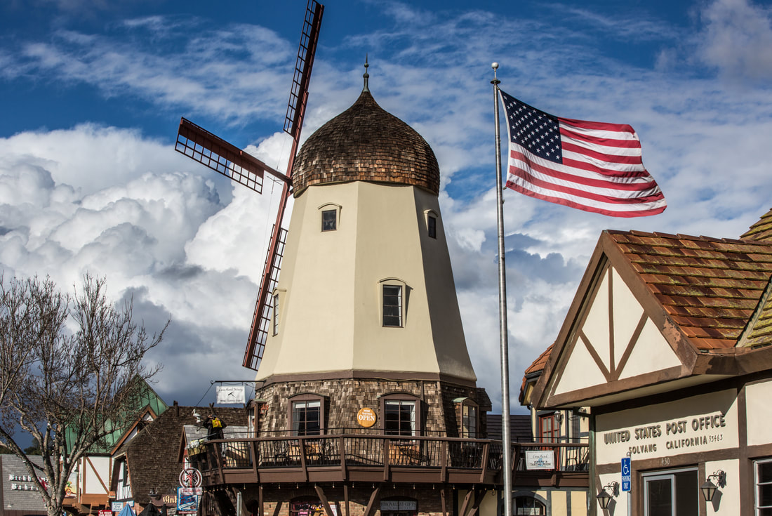 day 8:Cal Poly Slo & Solvang - Southern California Route