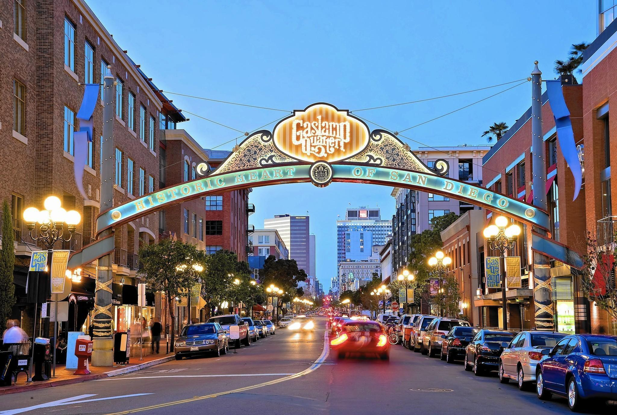 Gaslamp - The Gaslamp Quarter is becoming widely known for its incredible food, bustling nightlife, and diverse culture.Dining choices are plenty with options for al fresco on the sidewalks, sky high at a rooftop lounge, or in an intimate and ornately designed restaurant.