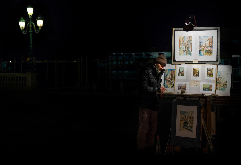 Street Artist in Venice