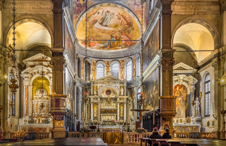 Inside Church of Venice