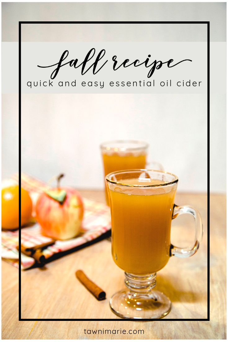 Typically Jane | Fall Recipe: Quick and Easy Essential Oil Cider – A Guest Post | tawnimarie.com