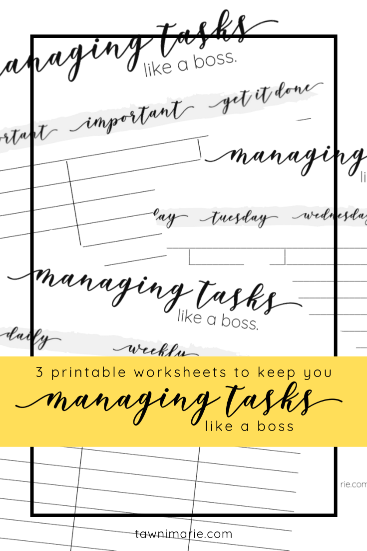 Managing Tasks Like A Boss | Free Printable Planner Worksheets | Proven Productivity Hacks for the Flexible Freelancer | home office, desk, keyboard | tawnimarie.com