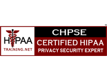 CHPSE - Clarus RCM is a CERTIFIED HIPAA PRIVACY SECURITY EXPERT