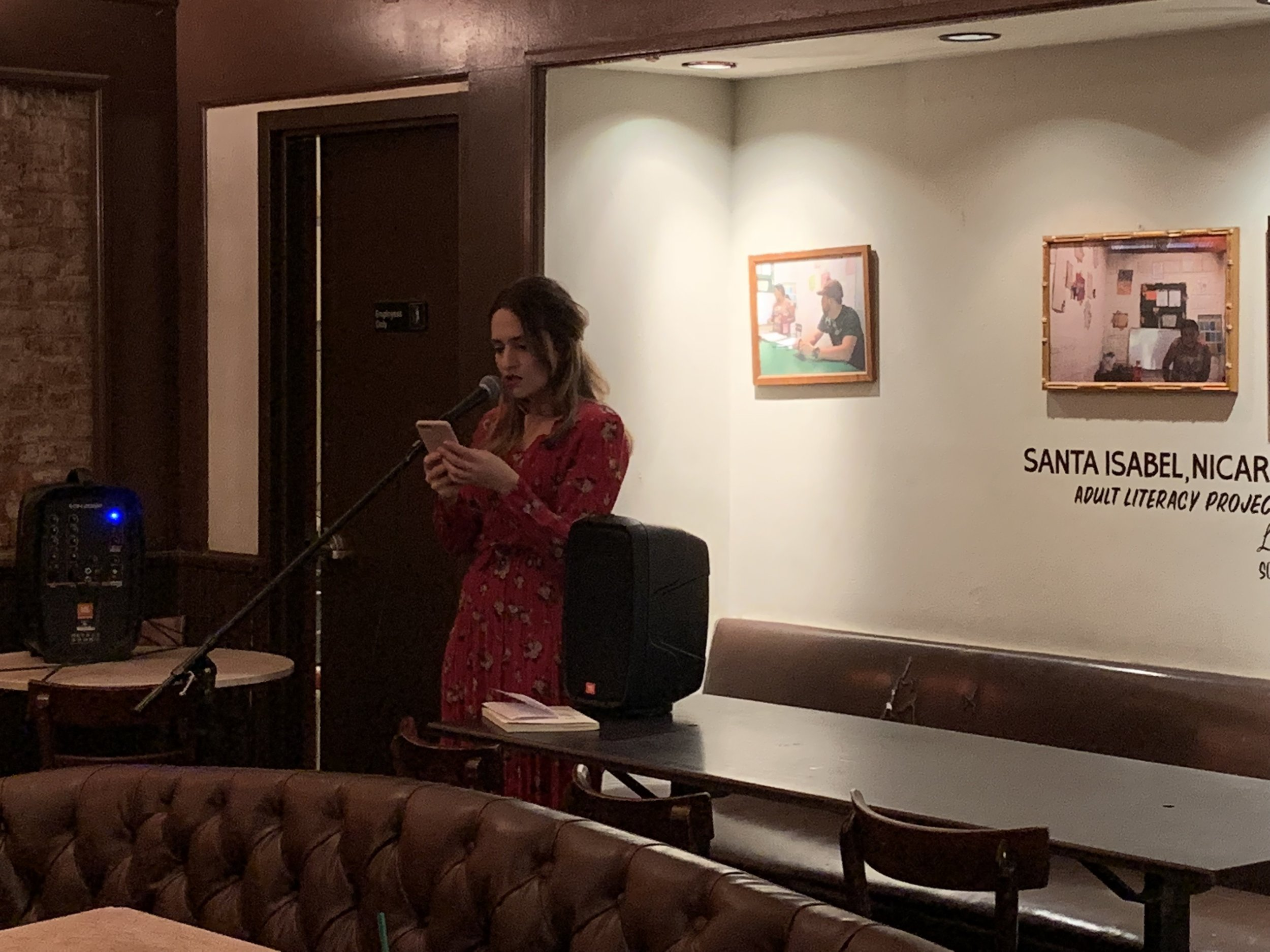 Connie Mae Oliver reading