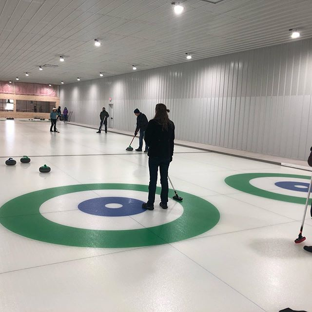 First Learn to Curl in the books with the newlywed couple and their families!!