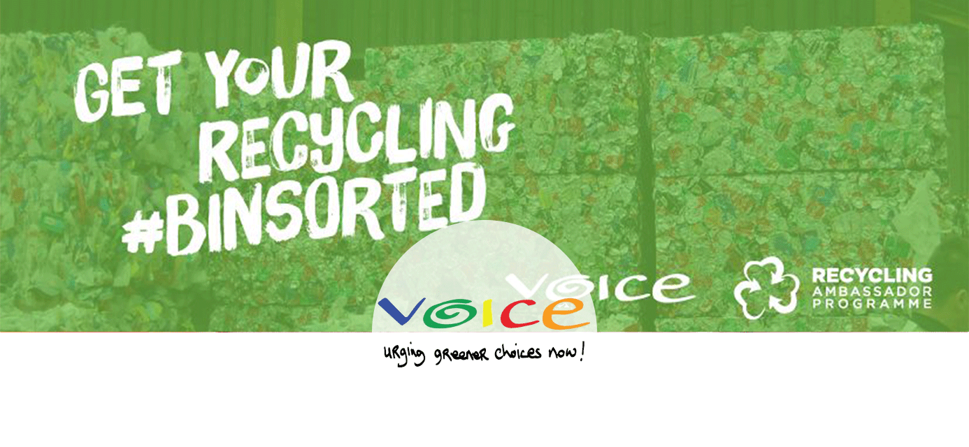 The VOICE advocates for the wise use of natural resources through various campaigns, including the Recycling Ambassador Programme, Conscious Cup Campaign, Zero Waste Cashel, Sick of Plastic Campaign and our policy work on the reduction of single-use plastics at an EU and national level.
